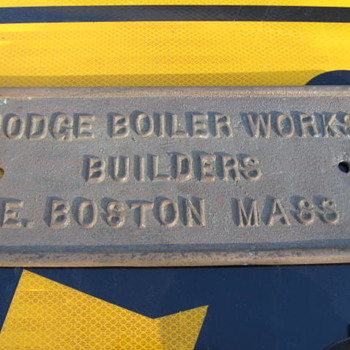Bronze Plaque HODGE BOILER WORKS EAST BOSTON AFRICAN QUEEN MOVIE - Signs
