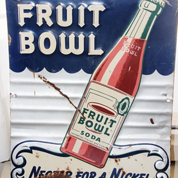 Drink Fruit Bowl Soda Sign - Signs