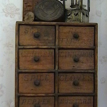 Early 1900's Hanging Spice Cabinet - Folk Art