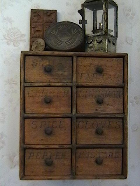 Early 1900's Hanging Spice Cabinet | Collectors Weekly