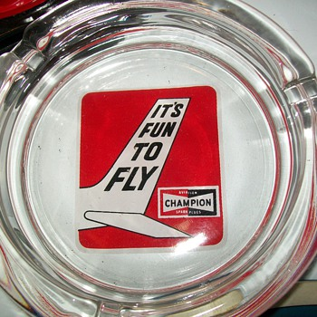 Champion Aviation spark plug ashtray - Advertising