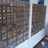 2 Panels of vintage mail boxes