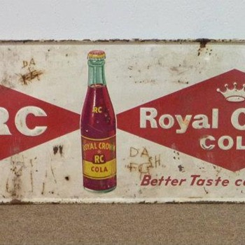 Vintage Metal Royal Crown Cola Sign