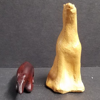 Wood & Ceramic Polar Bear - Pottery