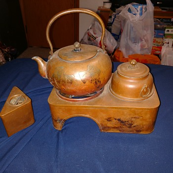 Copper tea pot and other - Asian