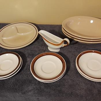 more of my tan/brown restaurantware china - China and Dinnerware