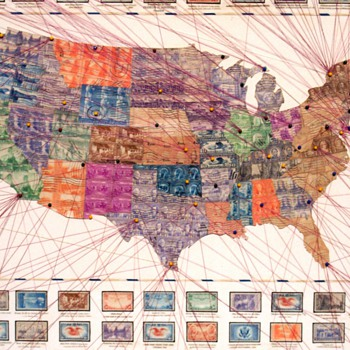 1930'S FOLK ART STAMP COLLECTION - Stamps