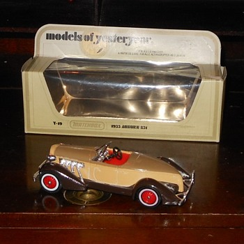 Matchbox Model of Yesteryear Y-19 1935 Auburn 851 - Model Cars