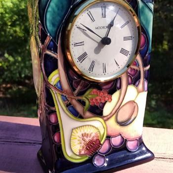 Moorcroft Pottery Clock - Pottery
