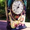 Moorcroft Pottery Clock