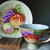 Vivid Fruit Cup and Saucer ~ Unidentified