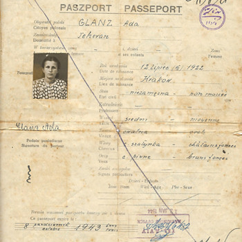 Amazing WW2 refugee passport