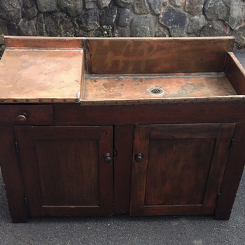 Antique Primitive Dry Sink - Furniture