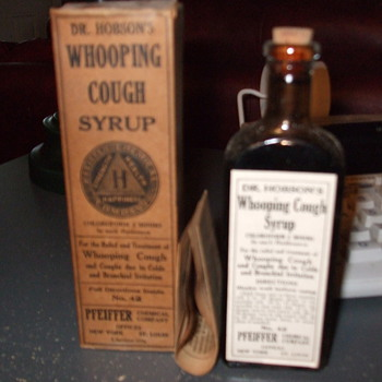 Dr. Hobson's Whooping Cough Syrup - Bottles