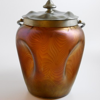 500 post, LOETZ Phänomen, Cookie Jar, PG 2/467, Circa 1902 - Art Glass