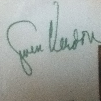 Gwen Verdon Autographed Notecard  - Movies