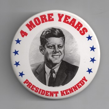 Real or Fake 1964 John F. Kennedy pinback - Medals Pins and Badges
