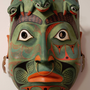 """Authentic"" Northwest Coast dance masks - Robert Jackson - Native American"