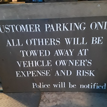 CUSTOMER PARKING ONLY sign - Signs