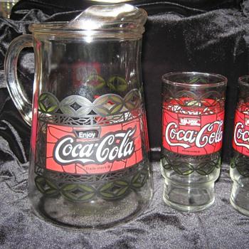 Coca-Cola Pitcher & Glasses - Coca-Cola