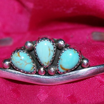 Sterling and Turquoise Bangle