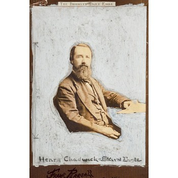 """The Father of Baseball"" – late 1870s (possibly 1880) Portrait of Henry Chadwick by Frank Pearsall - Photographs"
