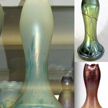 Poshinger vs PK Green Ground & red veins - Art Glass
