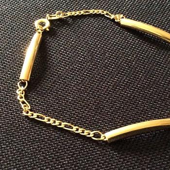 Vintage gold plated bracelet, - Costume Jewelry