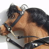 Antique German Pull Toy Horse Glass Eyes Horse Hair Wood Carriage