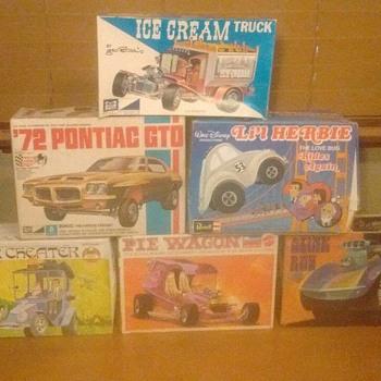 A few of my model kits !!!!!!!!!!! - Model Cars