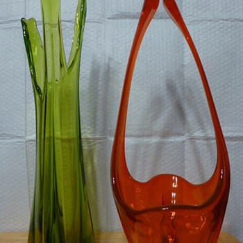 Viking Glass swung vases - Art Glass