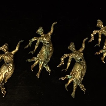 Victorian Bronze / Brass Angels - Victorian Era