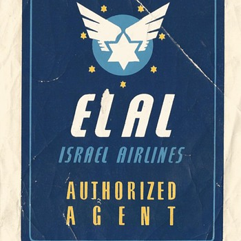 EL AL Agent 1950 - Posters and Prints