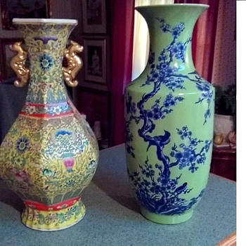 Two More Large Chinese Vases..... Thanks Sis ! - Asian