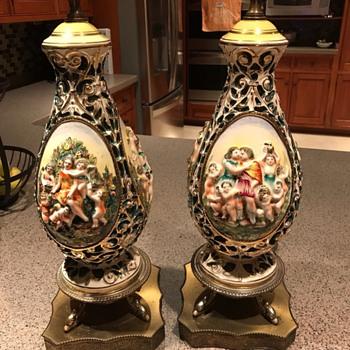 Ardalt Capotraforo lamp Italy M608(Capodimonte??) - Pottery