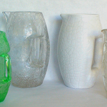 Going Back To Alfredo's Blog Pages About Czech Glass & A. Ruckl Design Pitcher Nizbor 1940s - Art Glass