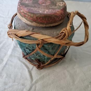 Antique Ginger Jar with lid/cork - Asian