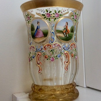 Myer's Neffe - Lobmyer? Glass Beaker...c1880 - Art Glass
