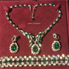 Sherman Jewelry Parure — Green & Clear, 3 Piece, Swarovski Crystal
