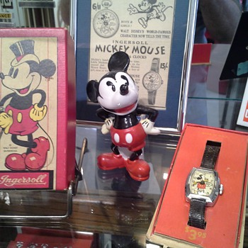 1937 Mickey Mouse deluxe and 1933 Chicago World's Fair Mickey #1