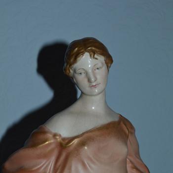 Crown Devon Ivrine figurine - Grecian lady - Pottery