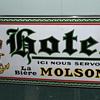 porcelaine sign molson  hotel  very scarce circa 1920