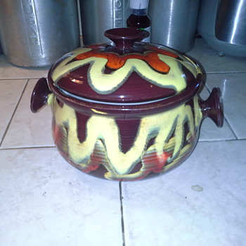 Vintage Ceramic Pot signed Sk - Mid-Century Modern