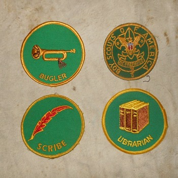 Saturday Evening Scout Post Rank and Position Patches 1972-1989 - Medals Pins and Badges