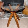 Unique Jacks Style Glass Top End Table
