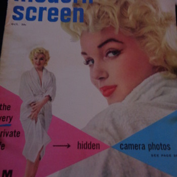 Modern Screen OCT. 1955, the very private life of MM