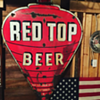 Red Top Beer double-sided porcelain sign