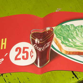 paper coke signs - Coca-Cola
