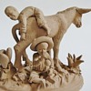 Wonderful little clay Sculpture~Boys with a Donkey~Mexican?