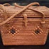 Small tighly woven trunk style basket